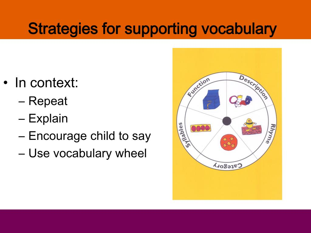 Strategies for supporting vocabulary