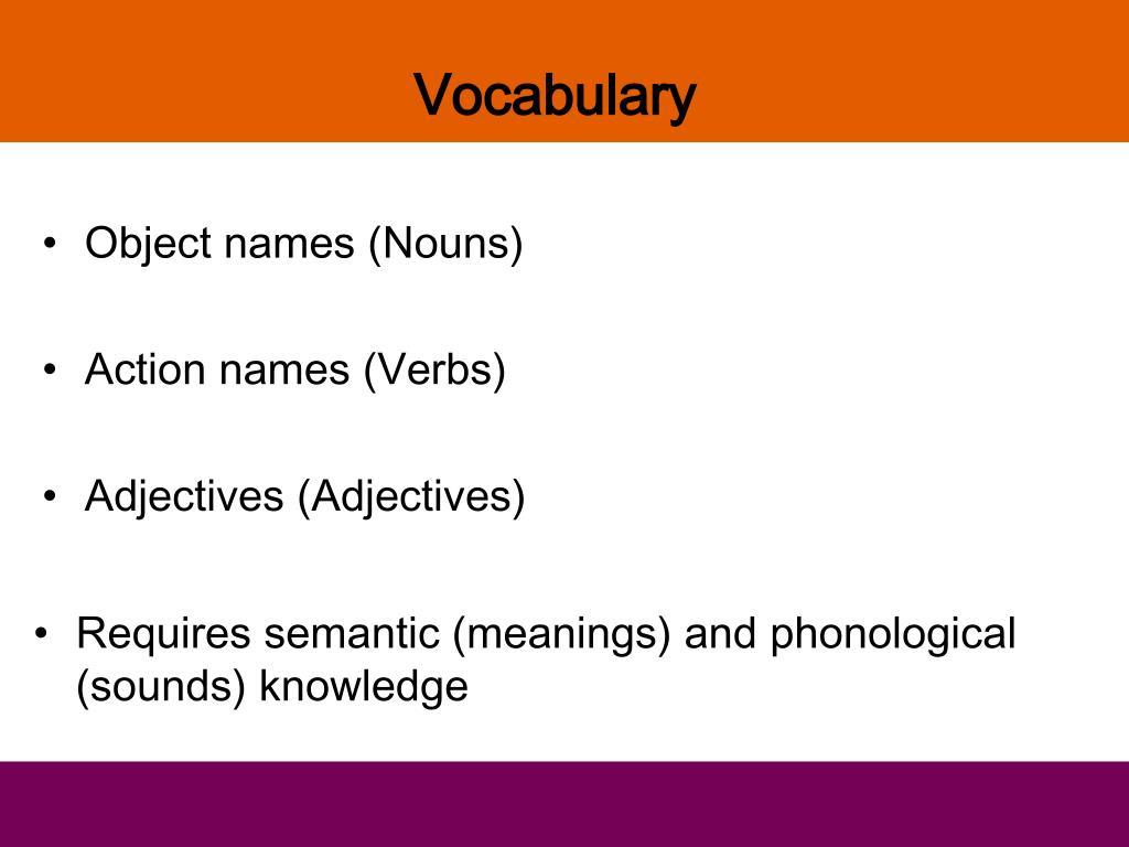 Object names (Nouns)