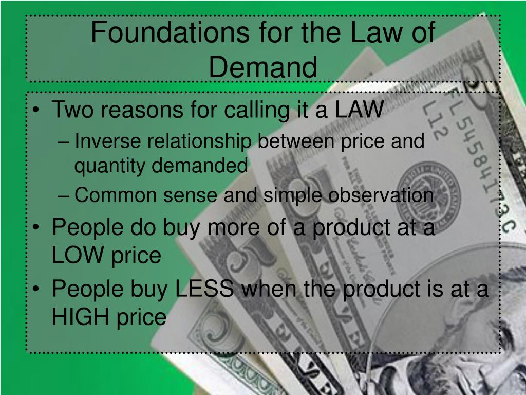 Foundations for the Law of Demand