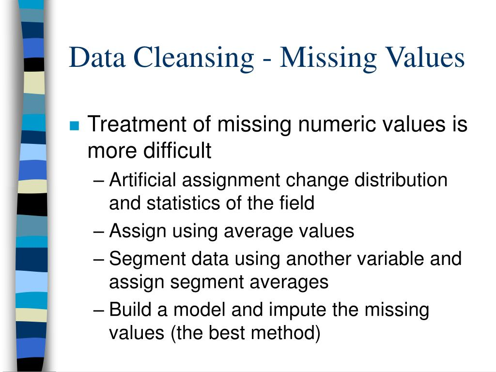 Data Cleansing - Missing Values
