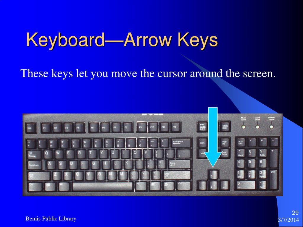 Keyboard—Arrow Keys