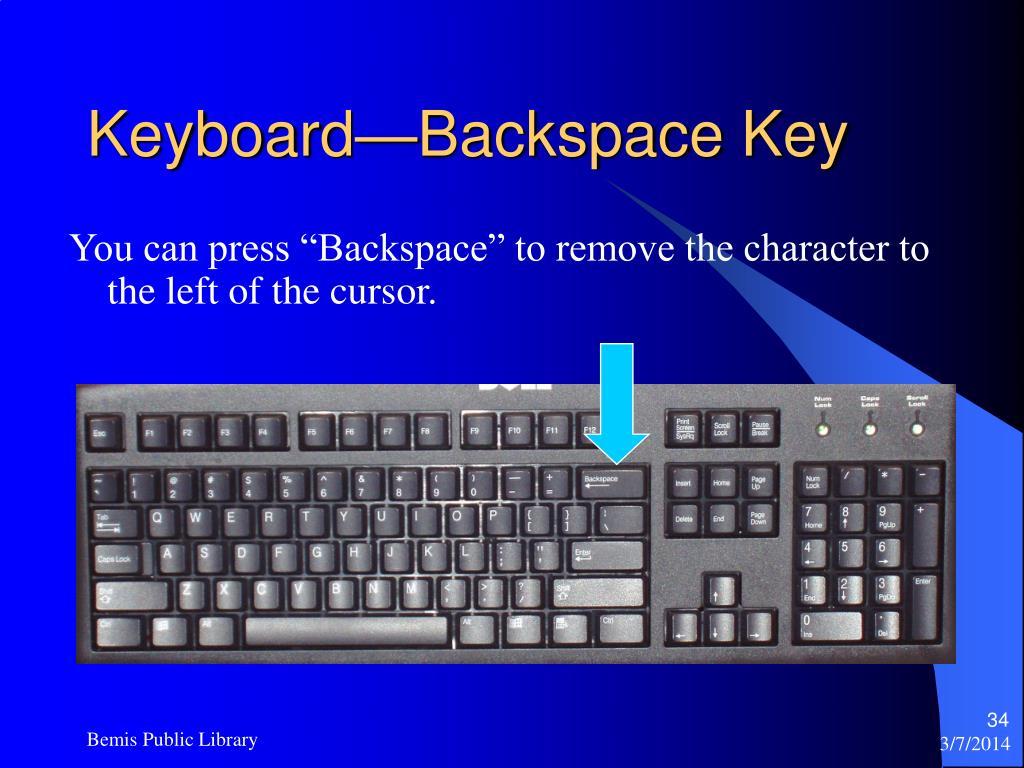 Keyboard—Backspace Key