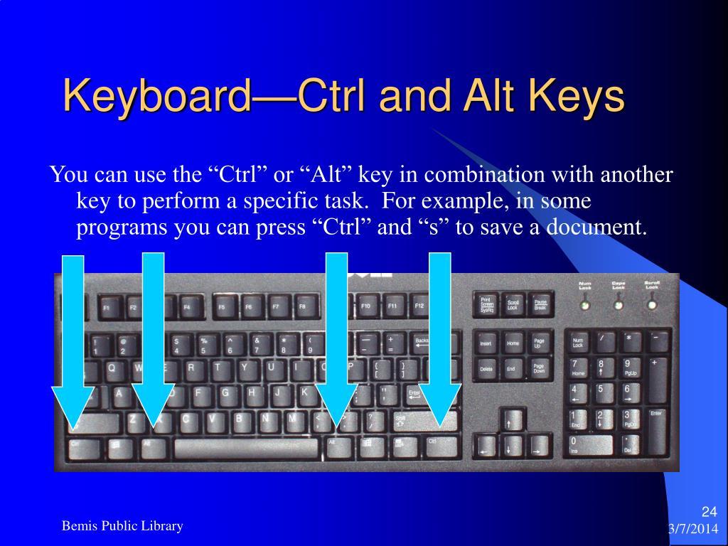 Keyboard—Ctrl and Alt Keys