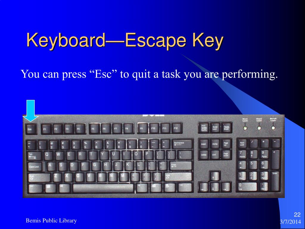 Keyboard—Escape Key