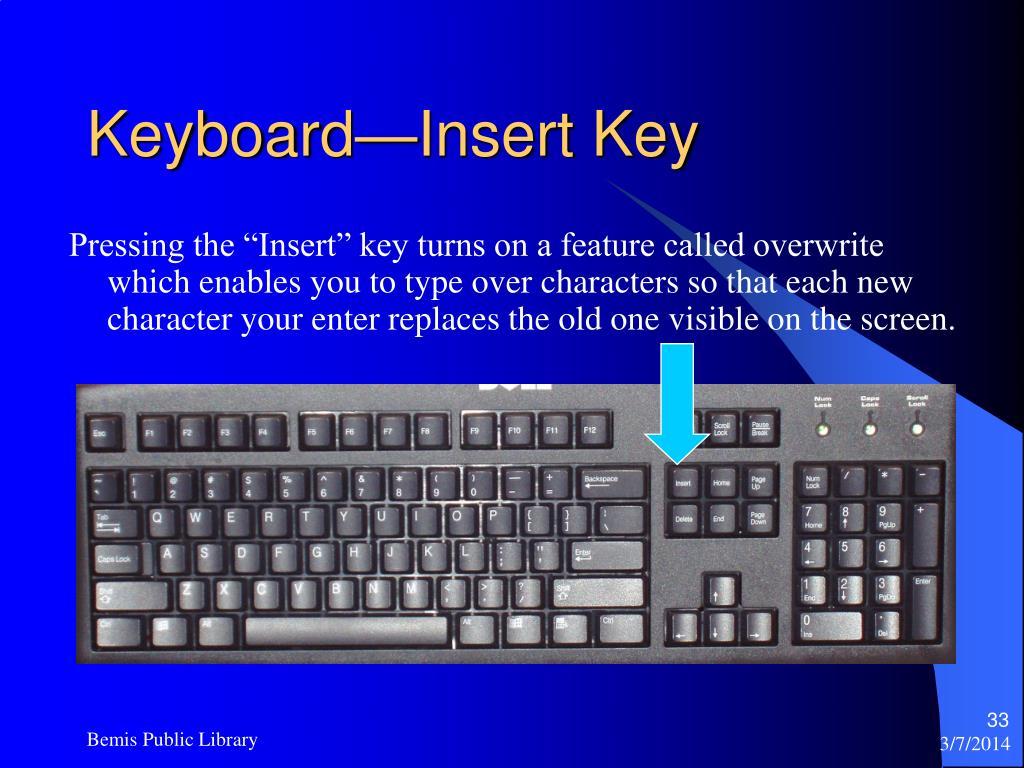 Keyboard—Insert Key