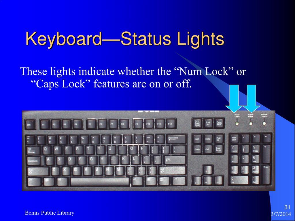 Keyboard—Status Lights