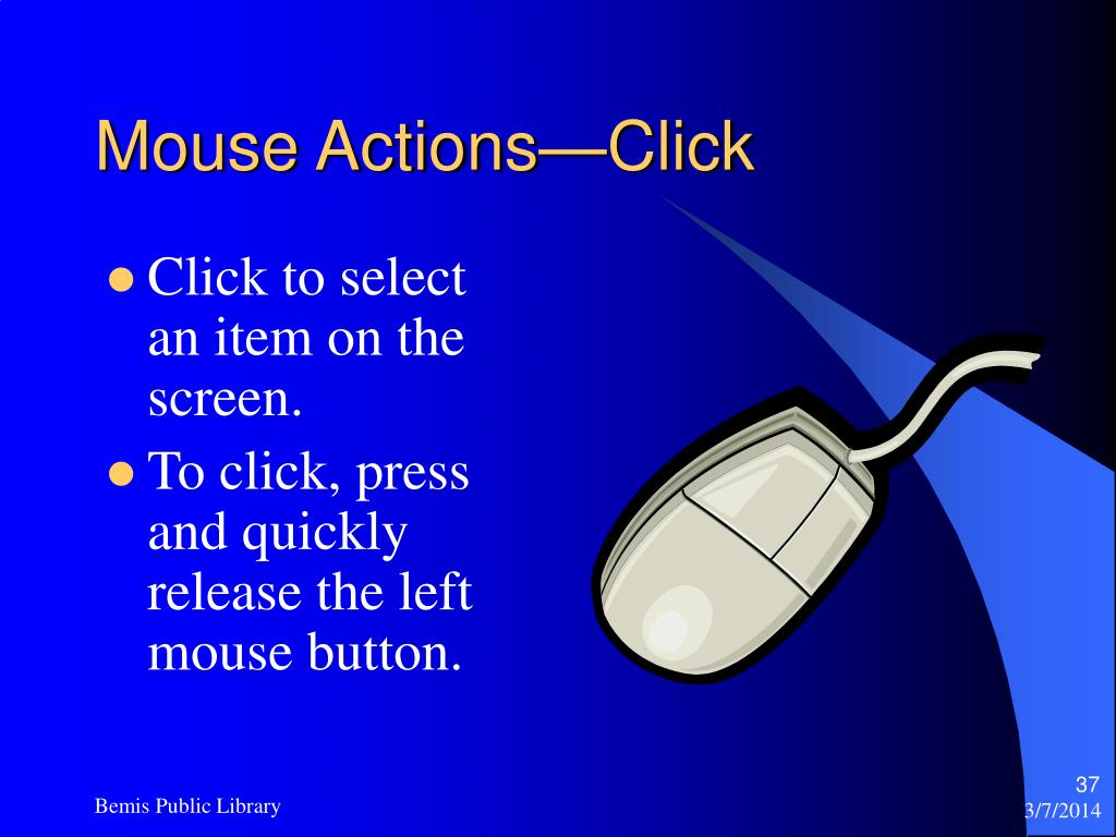 Mouse Actions—Click
