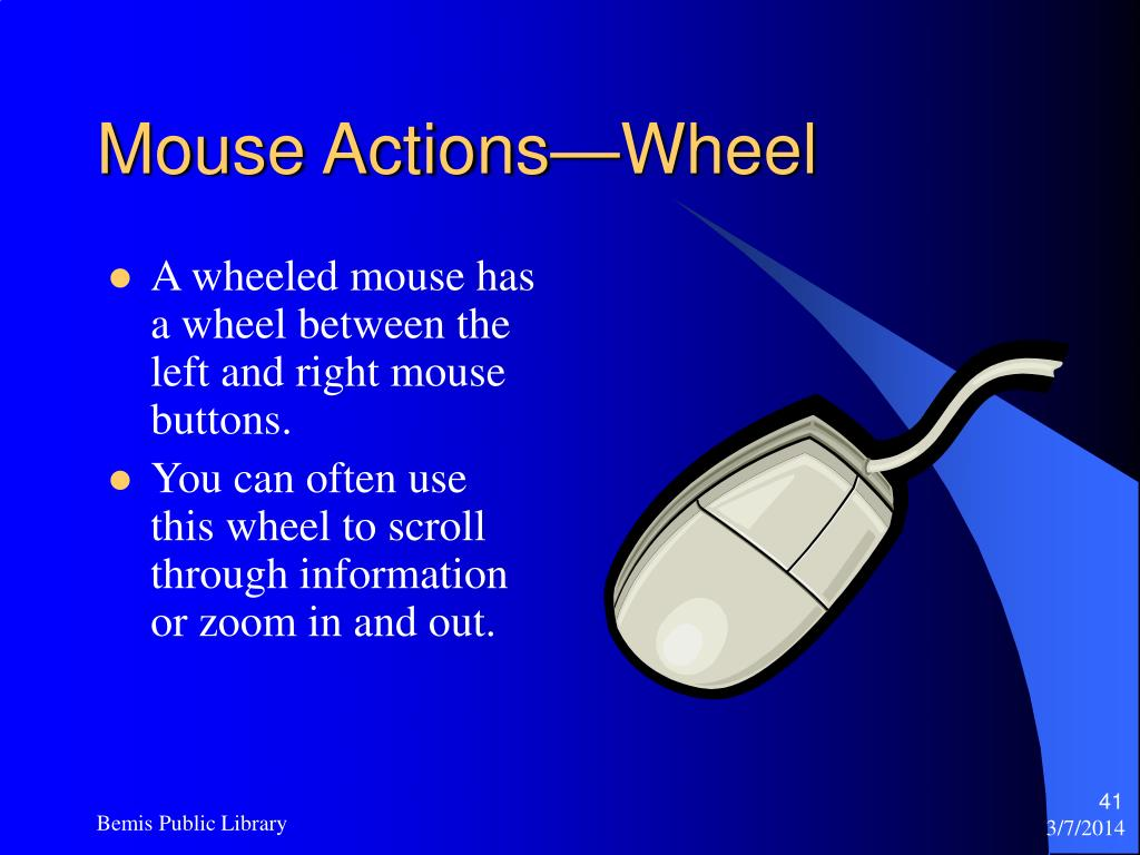 Mouse Actions—Wheel