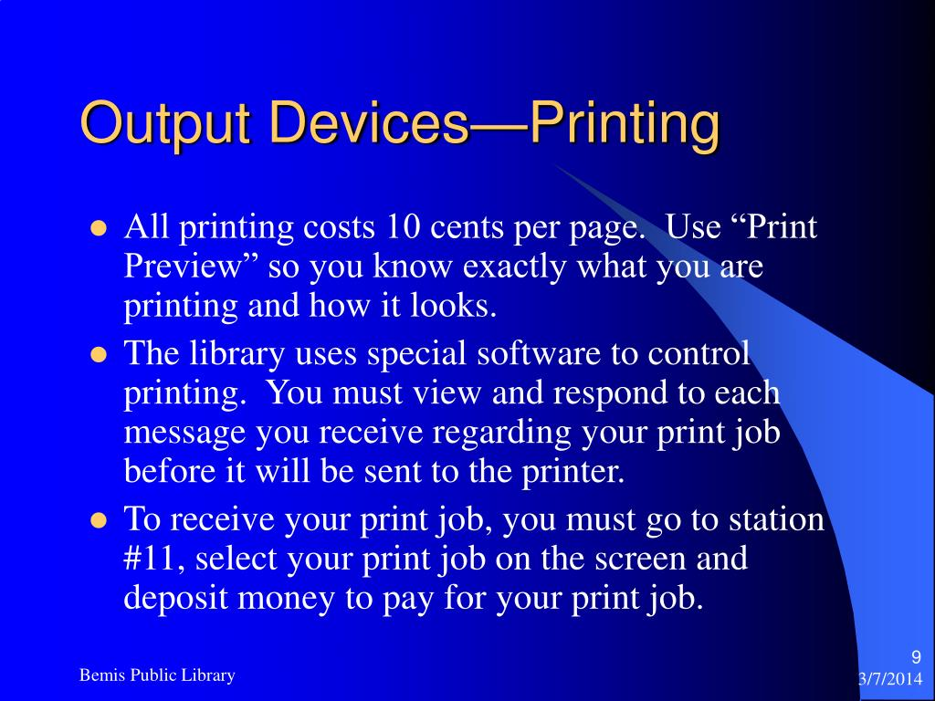 Output Devices—Printing