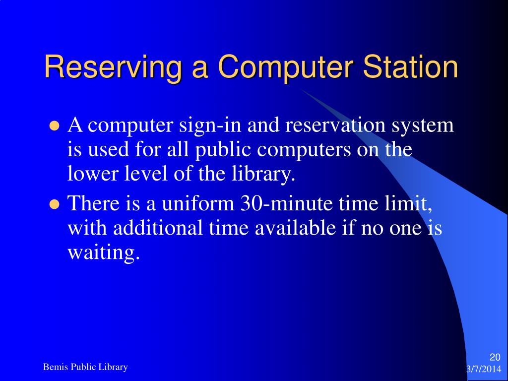 Reserving a Computer Station