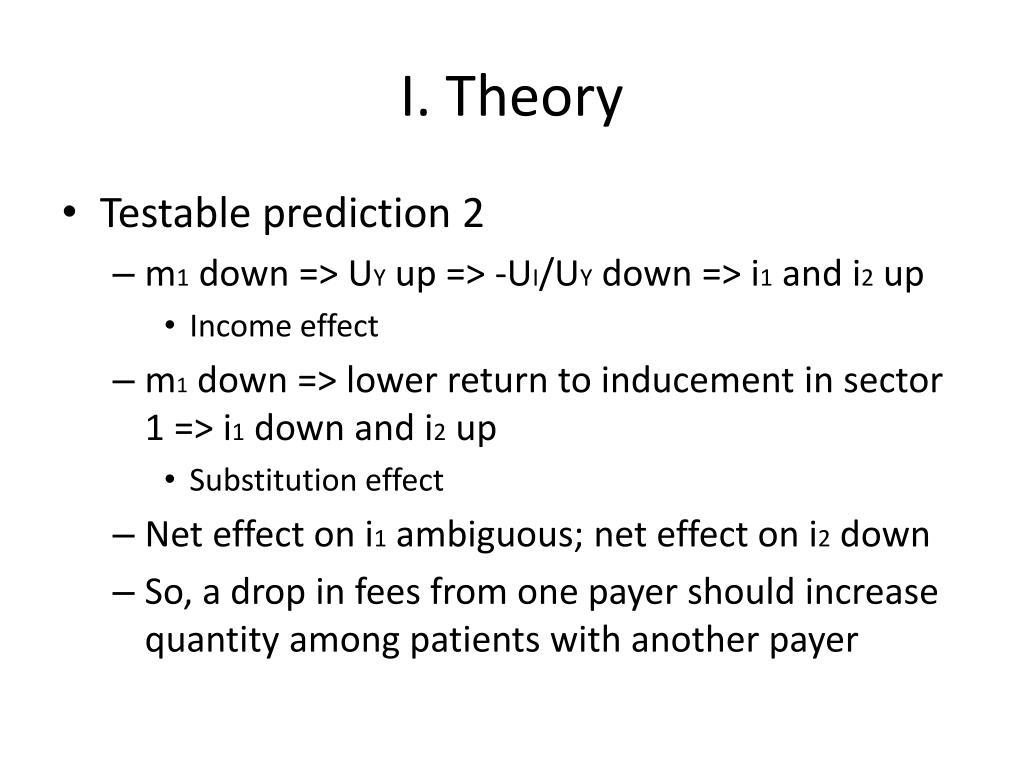 I. Theory