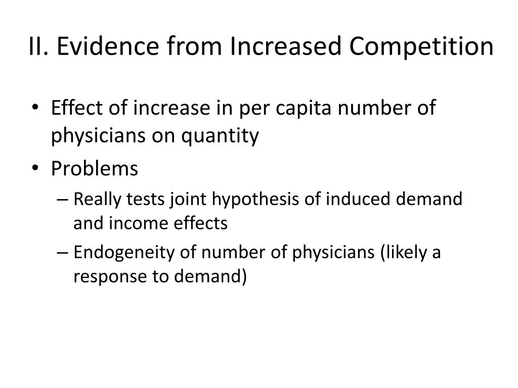 II. Evidence from Increased Competition