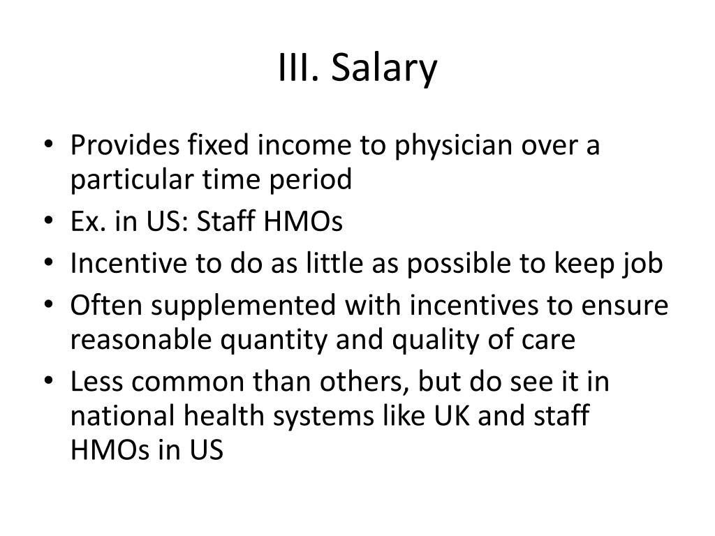 III. Salary
