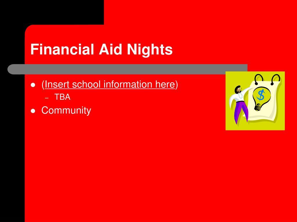 Financial Aid Nights