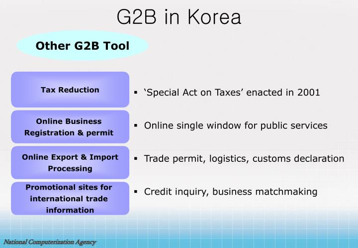 G2B in Korea