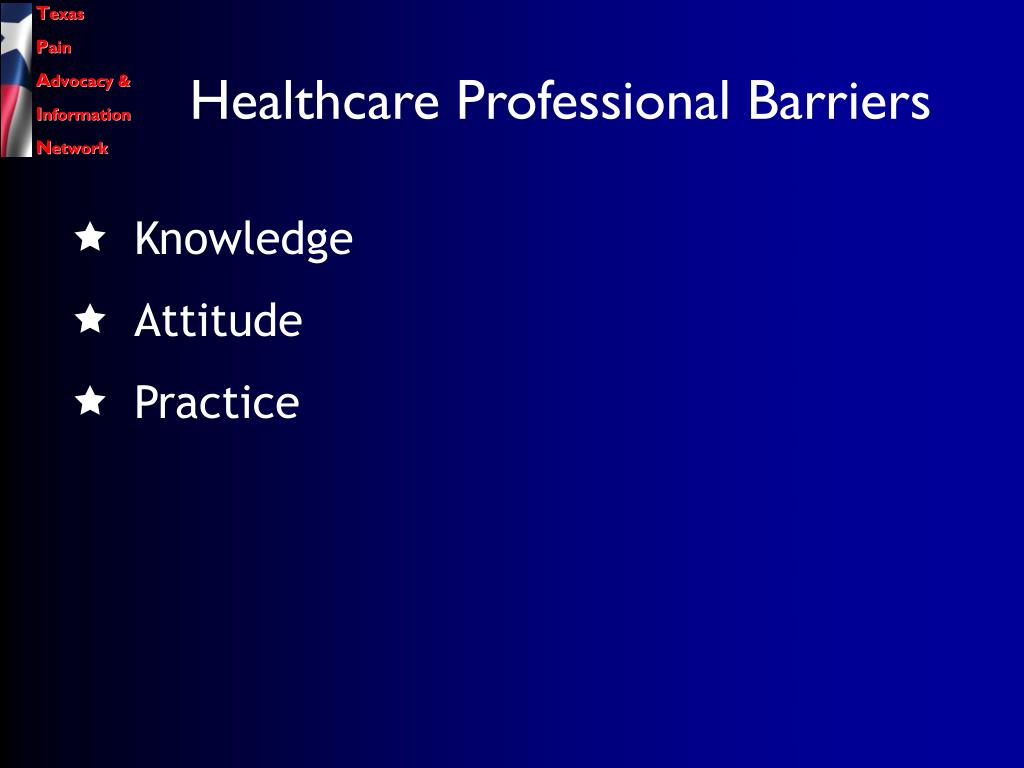 Healthcare Professional Barriers