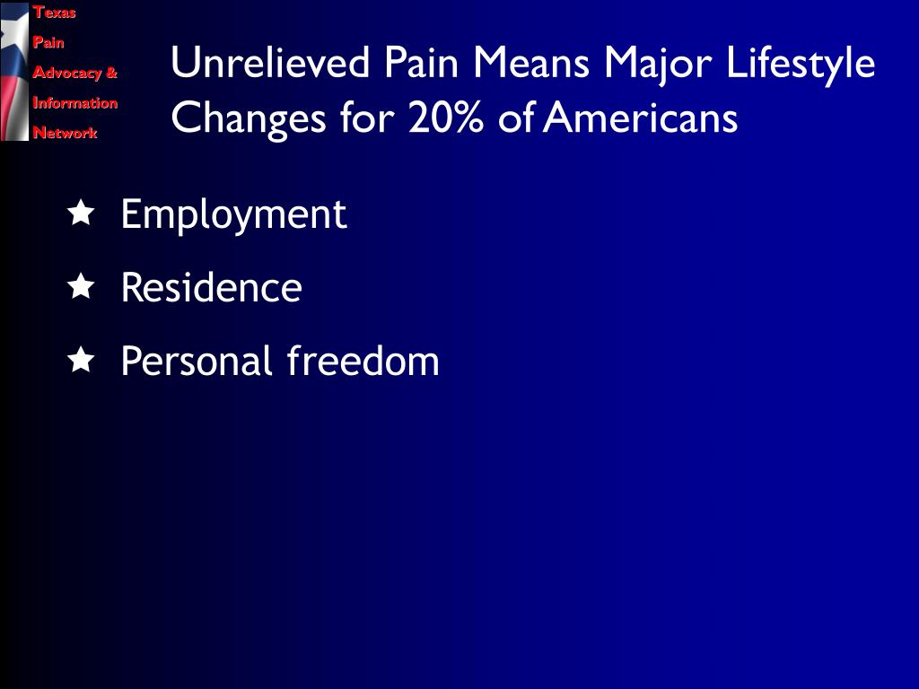 Unrelieved Pain Means Major Lifestyle Changes for 20% of Americans