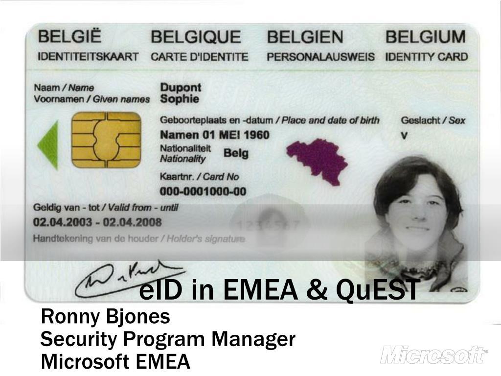 eID in EMEA & QuEST