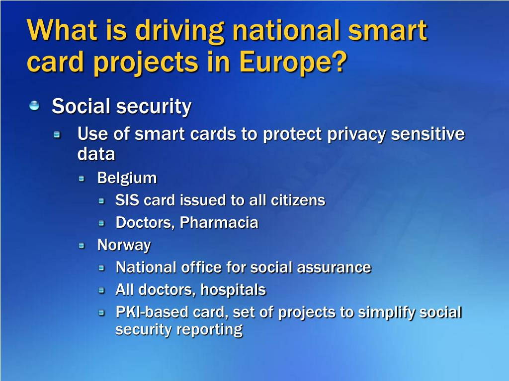What is driving national smart card projects in Europe?