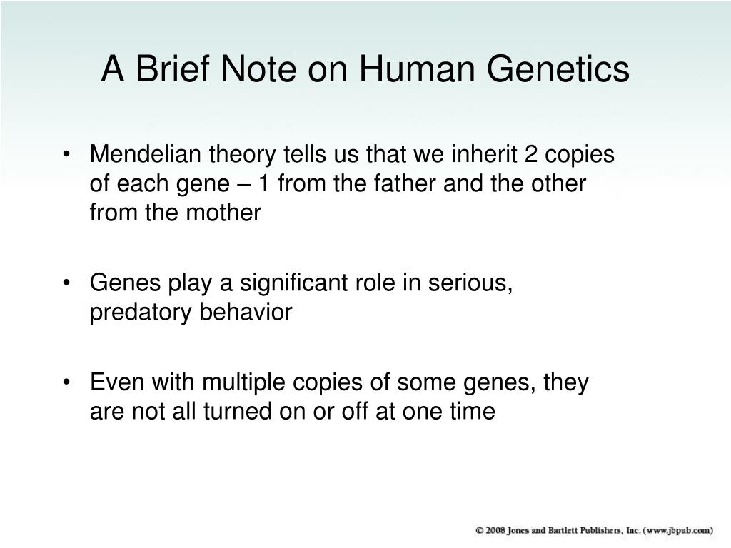A Brief Note on Human Genetics