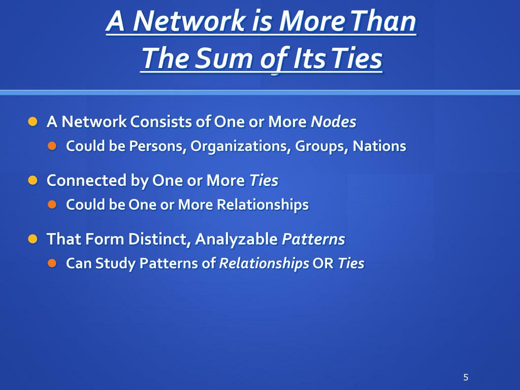 A Network is More Than