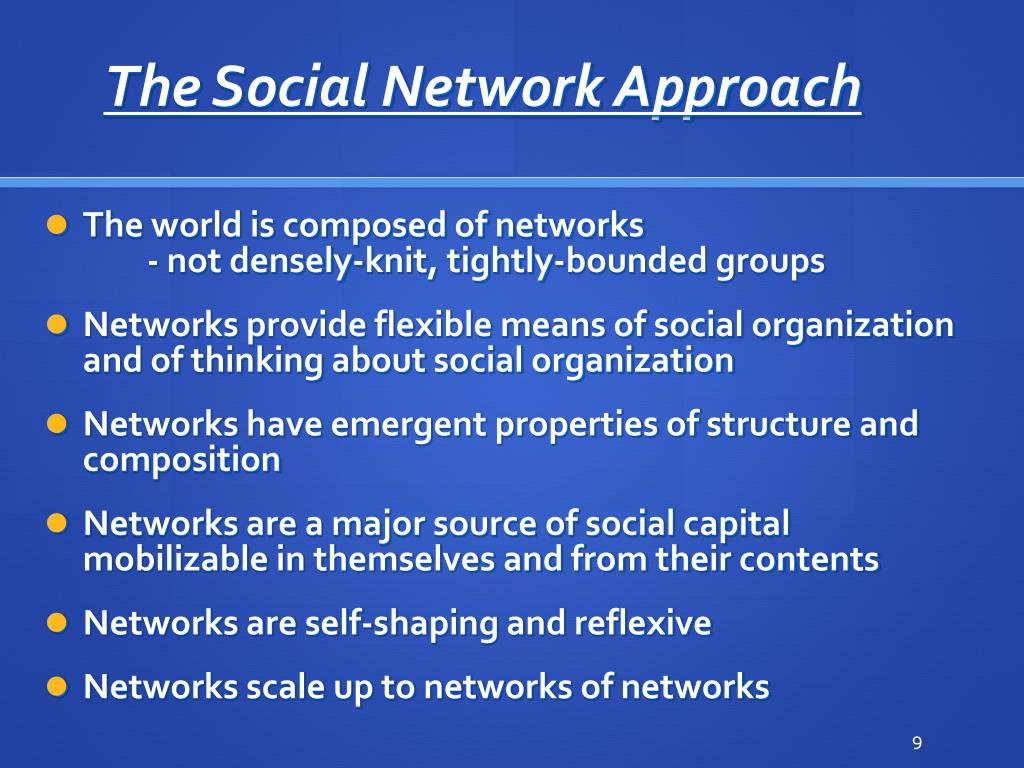 The Social Network Approach