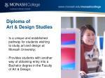 diploma of art design studies