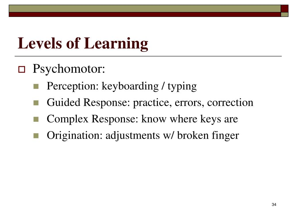 Levels of Learning