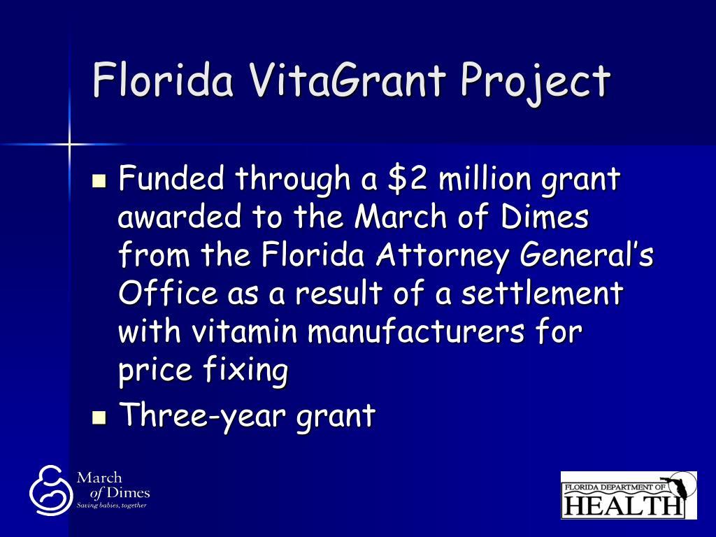 Florida VitaGrant Project