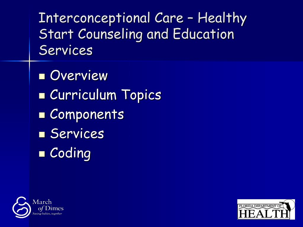 Interconceptional Care – Healthy Start Counseling and Education Services