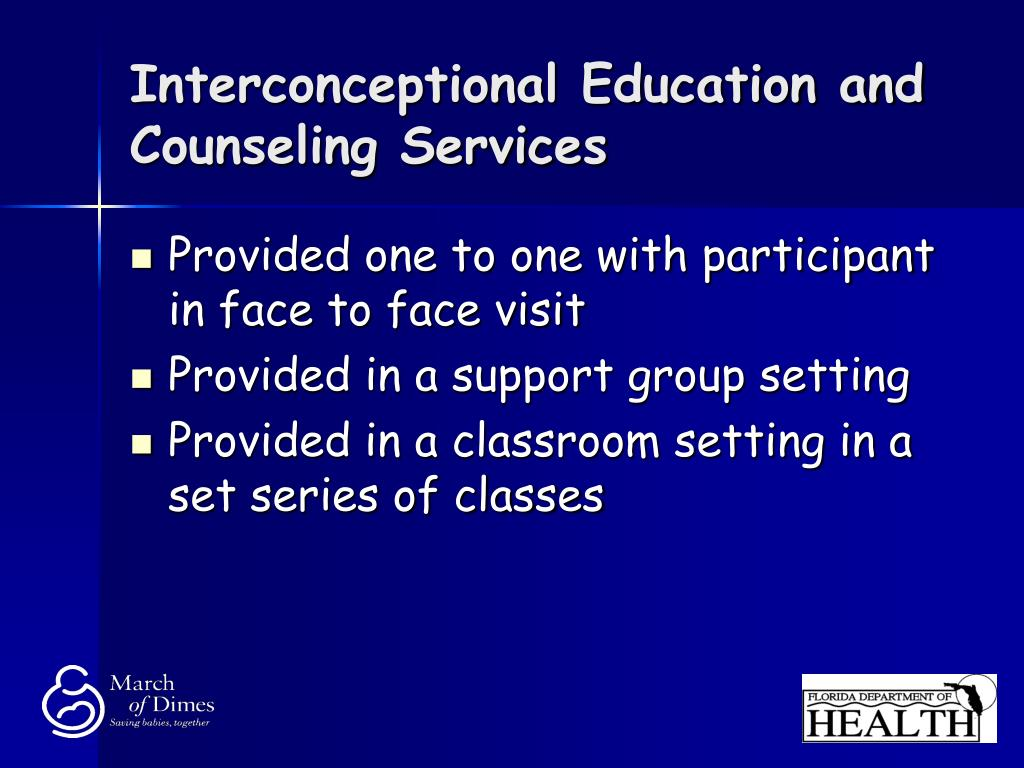 Interconceptional Education and Counseling Services