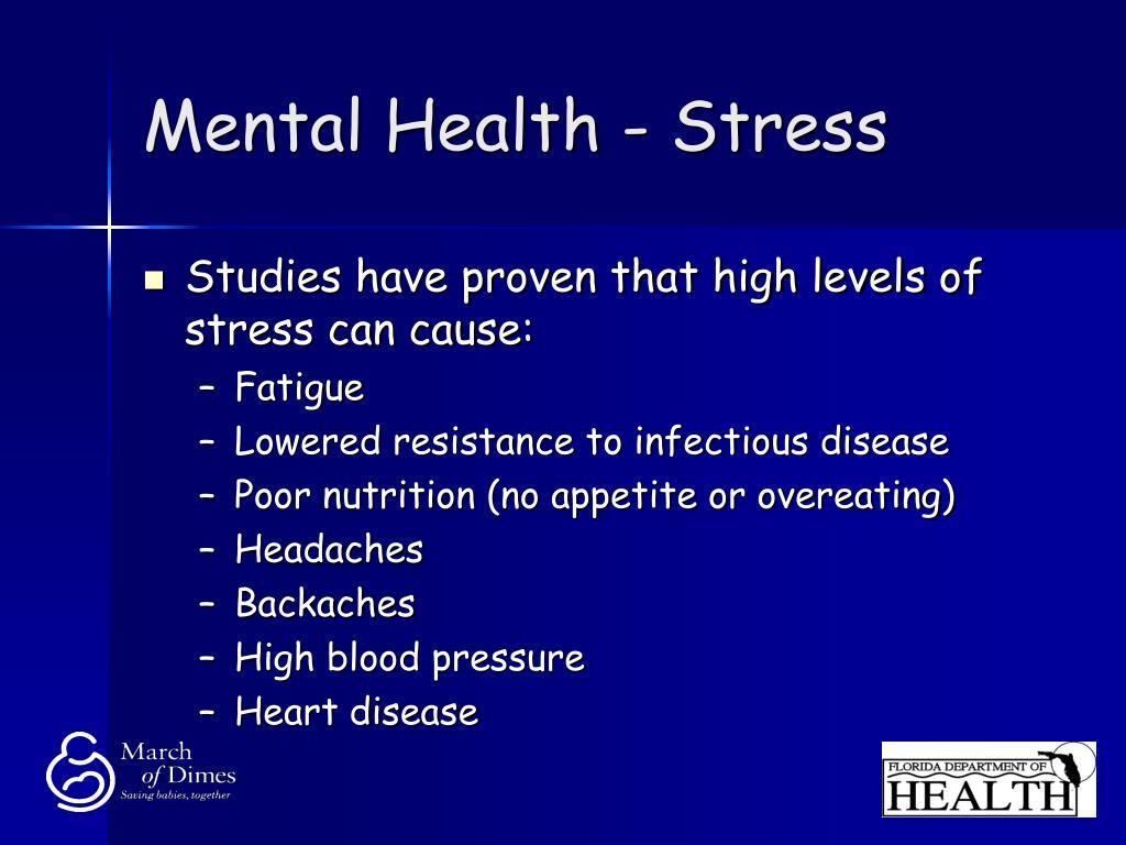 Mental Health - Stress