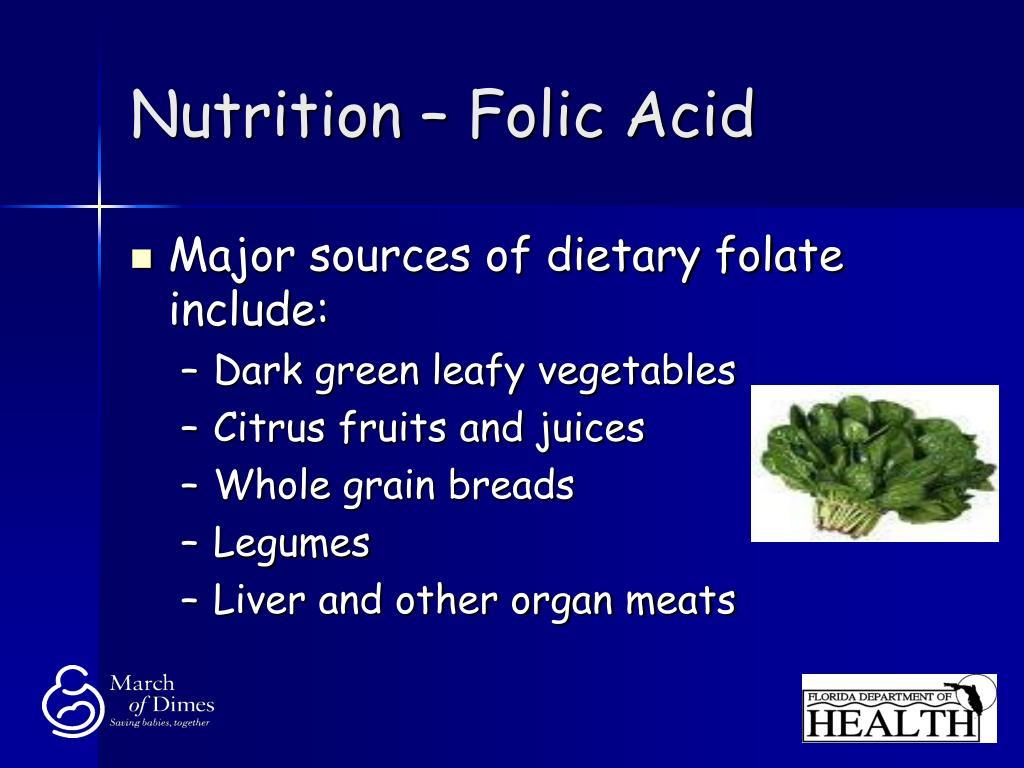 Nutrition – Folic Acid