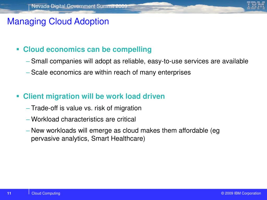 Managing Cloud Adoption