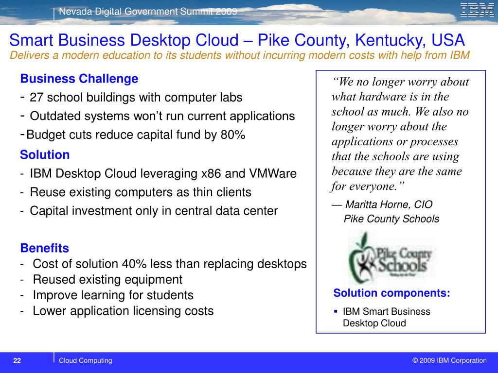 Smart Business Desktop Cloud – Pike County, Kentucky, USA