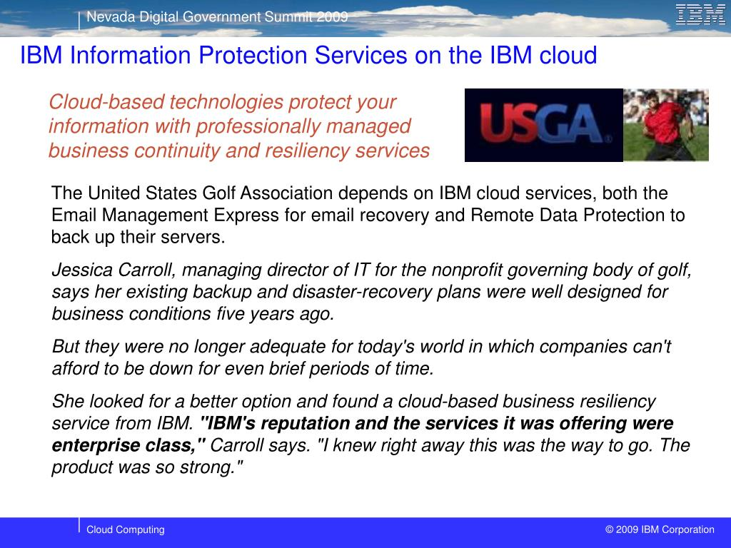 IBM Information Protection Services on the IBM cloud