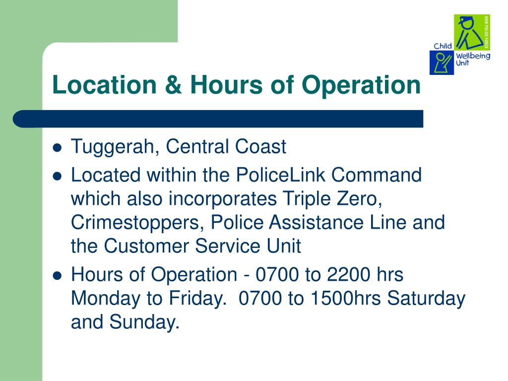 Location & Hours of Operation