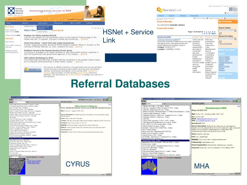 Referral Databases