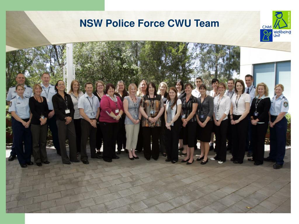 NSW Police Force CWU Team