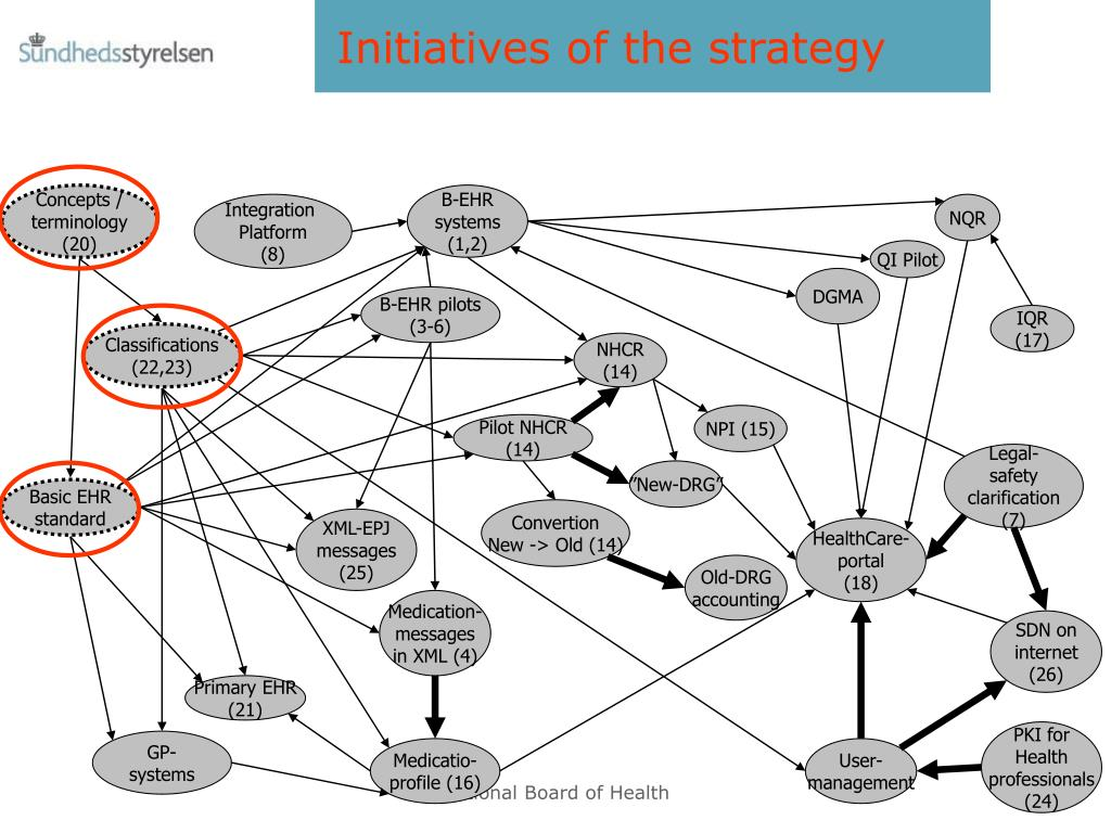 Initiatives of the strategy