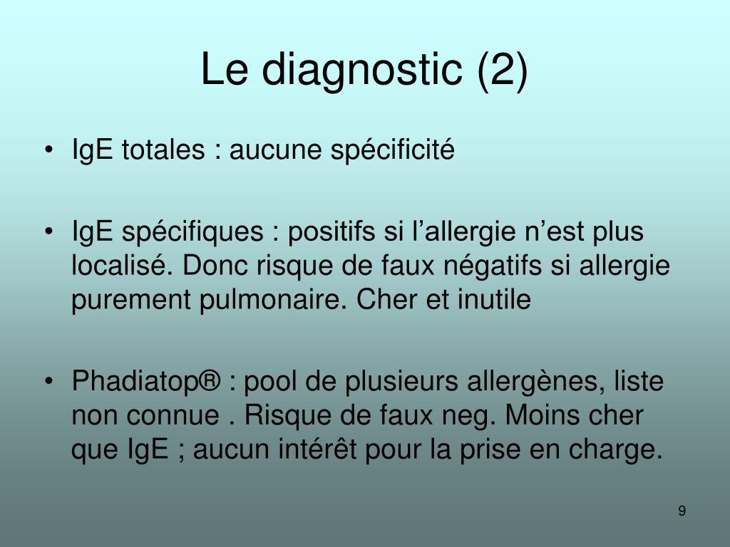 Le diagnostic (2)