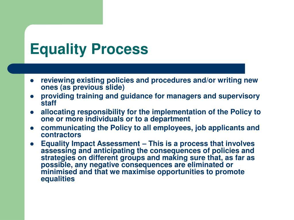 Equality Process
