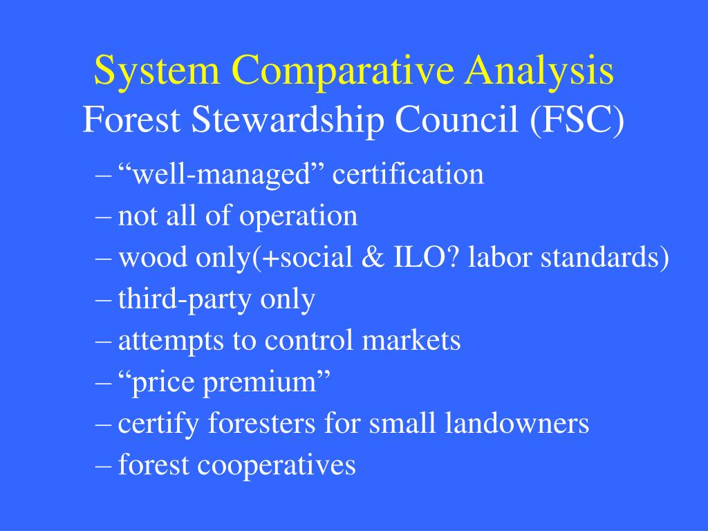 System Comparative Analysis