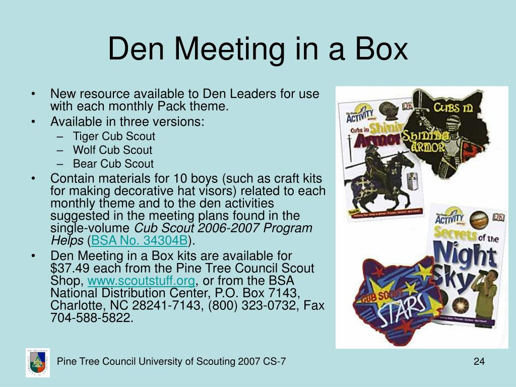 Den Meeting in a Box