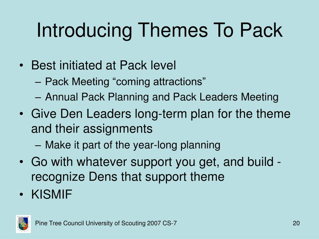 Introducing Themes To Pack