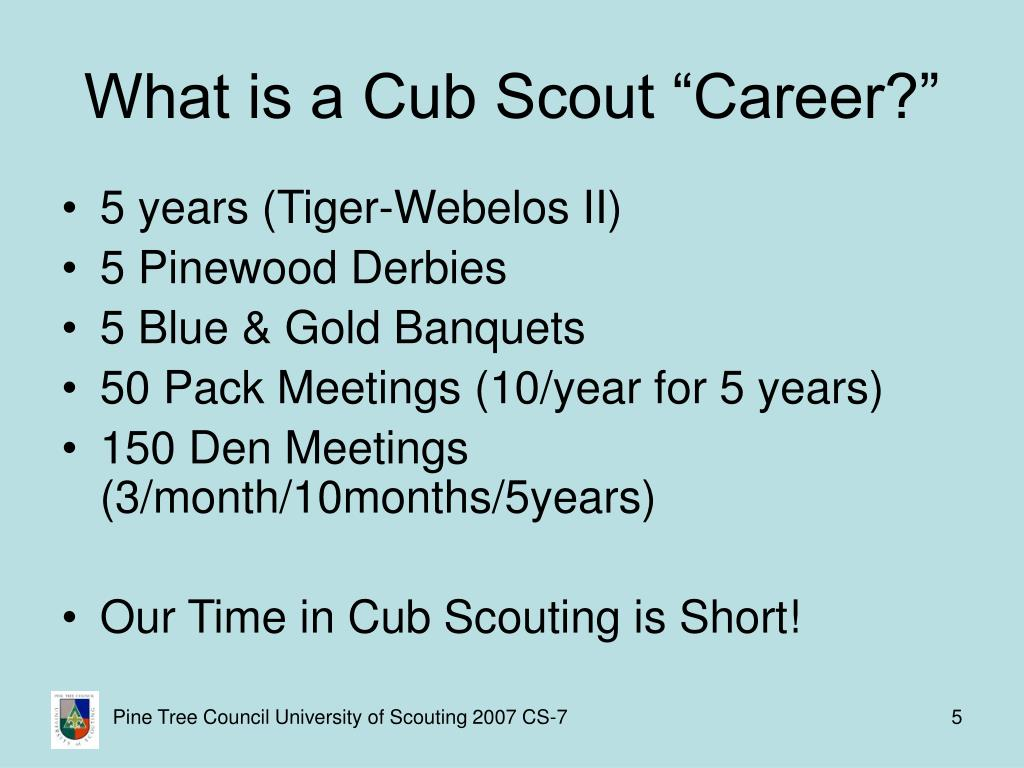 "What is a Cub Scout ""Career?"""