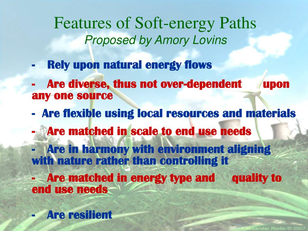 Features of Soft-energy Paths