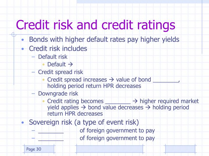 Credit risk and credit ratings