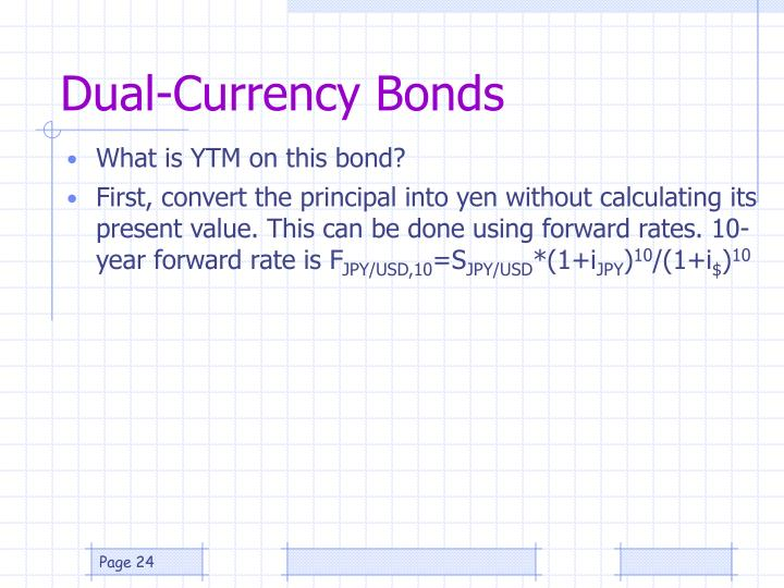 Dual-Currency Bonds