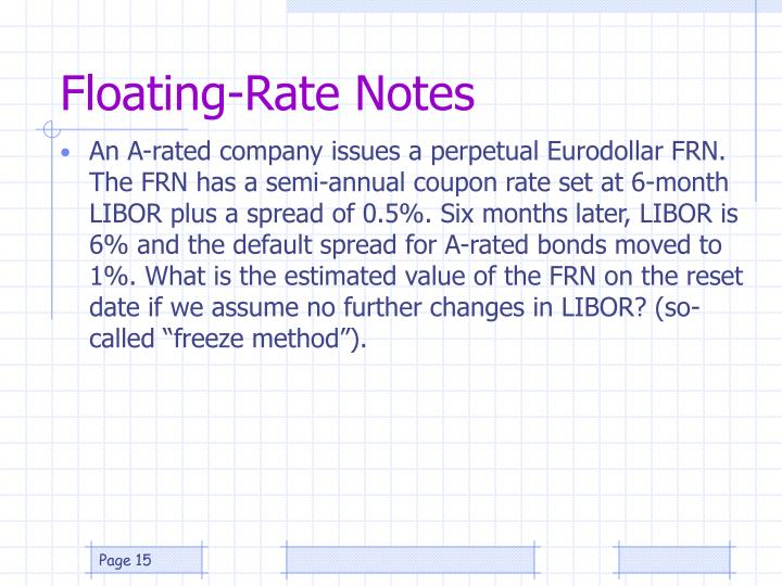 Floating-Rate Notes